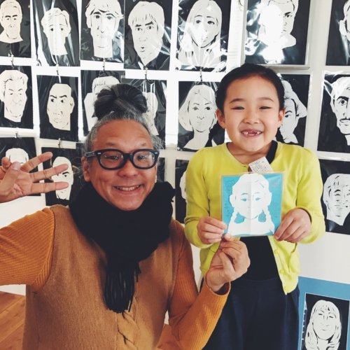 Cut caricature, with Mr. Matsumoto♪